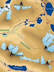 Store Rauddalstind full size map